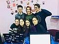 Stepanakert WikiClub's team.jpg