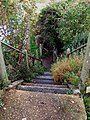 Steps down to canal from old railway line - geograph.org.uk - 1565186.jpg