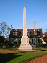 The Stewarton War Memorial near Strandhead Park.