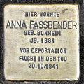 Stolperstein Anna Fassbender, Ehrenfeldgürtel 136, Köln-Neuehrenfeld-6145.jpg