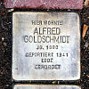 Stolperstein Hadrianstraße 15 Alfred Goldschmidt