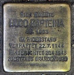 Photo of Hugo Kapteina brass plaque