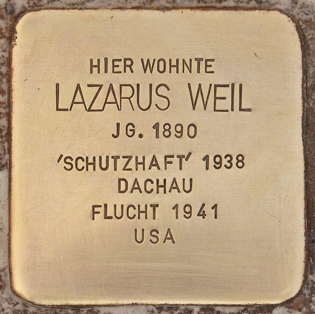 Stolperstein für Lazarus Weil (Mühlhausen in der Oberpfalz).jpg