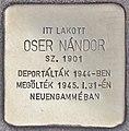 Stolperstein für Nandor Oser - Oser Nandor (Budapest).jpg