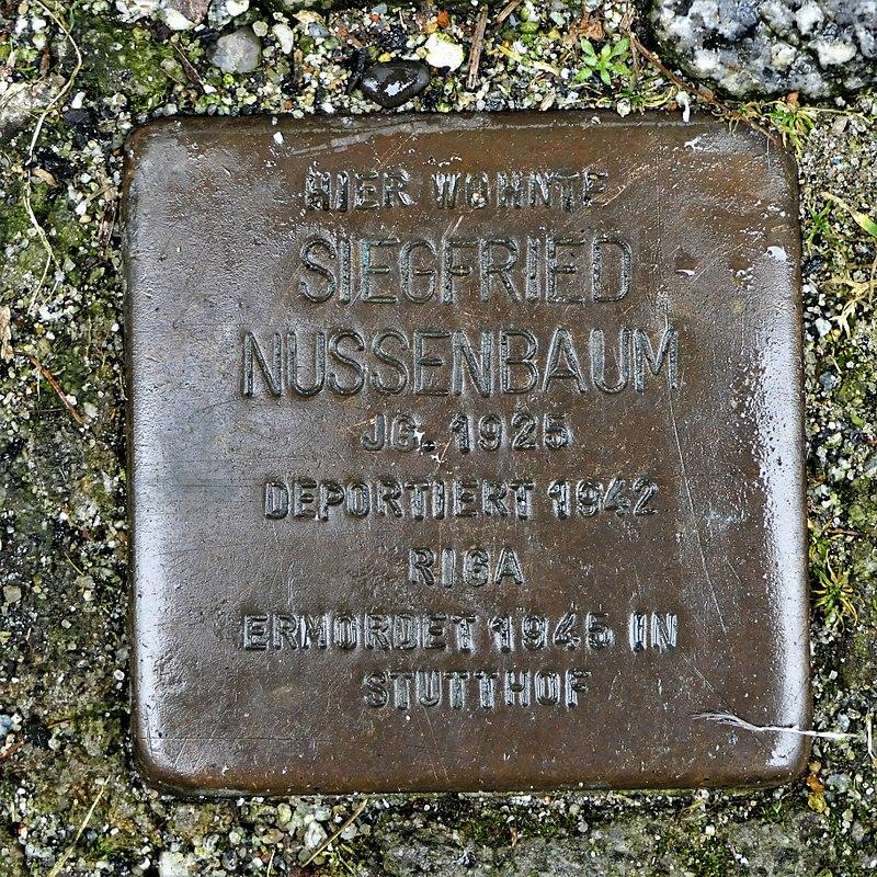 Stolperstein für Siegfried Nussenbaum, Siebergasse 2, Bautzen.JPG