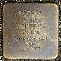 Stumbling block for Edith Weinberg (Rothgerberbach 6)
