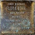 Stumbling block for Flora Lohn (Alteburger Straße 11)