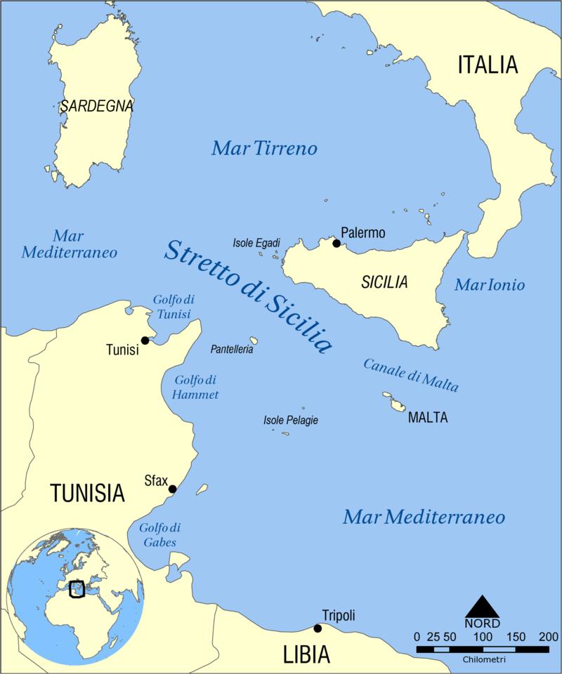 Sicilia Cartina Geografica.Solobari It Canale Di Sicilia