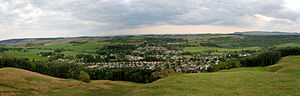 Strathblane - A panorama of Strathblane from the rocky ridge leading to Earl's Seat.