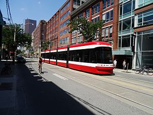 514 Cherry - Image: Streetcars on King, near Sherbourne, 2016 07 13 (12) (27699273643)