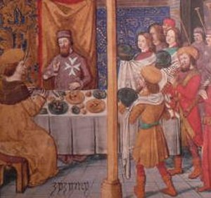 Franco-Ottoman alliance - Ottoman Prince Cem with Pierre d'Aubusson in Bourganeuf, 1483–1489.