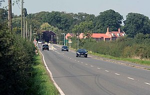 A638 road - Between Gamston and Markham Moor