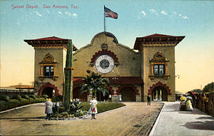 San Antonio station (Texas) - Postcard view of the 1902-built Sunset Station, the first San Antonio Station.