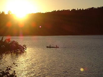 Rainy River District - Sunset in Quetico Provincial Park.