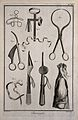 Surgery; an assortment of surgical instruments including twe Wellcome V0016284ER.jpg