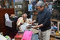 Sushil Kumar Chatterjee Showing His Old Photographs to Amrit Gangar - Kolkata 2017-02-23 5547.JPG