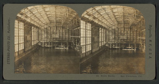 Sutro Baths, San Francisco, Cal, from Robert N. Dennis collection of stereoscopic views