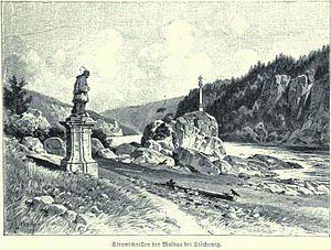 St John's Rapids - St. John's rapids at the beginning of the 19th century, by Karel Liebscher