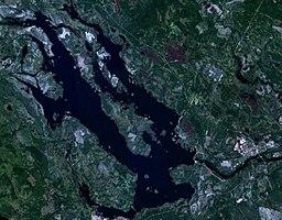 Satellitbillede over Svegssøen