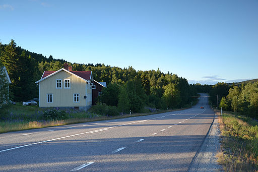 Sweden - road E4 (near Docksta)