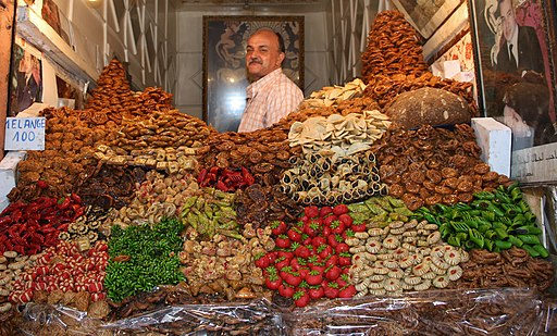 Sweet moroccan honey biscuits in the Souks of Marrakech