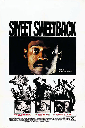 Blaxploitation - Poster of Sweet Sweetback's Baadasssss Song