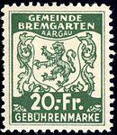 Switzerland Bremgarten 1940 revenue 20Fr - 29.jpg