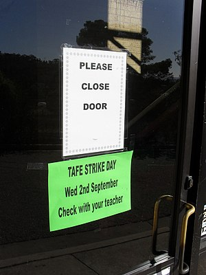 English: Teachers at the TAFE NSW campuses inc...