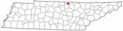 Location of Celina, Tennessee