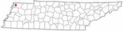 Location of Samburg, Tennessee
