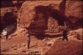TOURISTS VISIT OLD INDIAN SITES NEAR LATRAP CANYON - NARA - 545565.tif