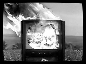 David Hall (video artist) - From TV Interruptions broadcast unannounced by Scottish Television, 1971