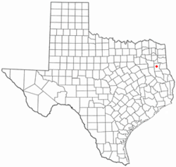 Location of Henderson, Texas