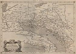 Tab V Europae in qua Raetia, Noricum, Liburnia, Dalmatia, Cum Italiae parte 1578.jpg
