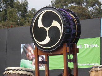 Tomoe - Image: Taiko drum at 2008 SFIDBF