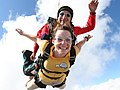 Tandem in freefall over Chicagoland Skydiving Center in Hinckley, IL.jpg