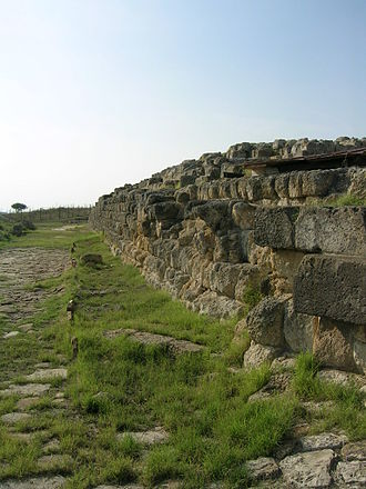 Tages - Foundation of Etruscan temple at Tarquinia, scene of the Tages legend.