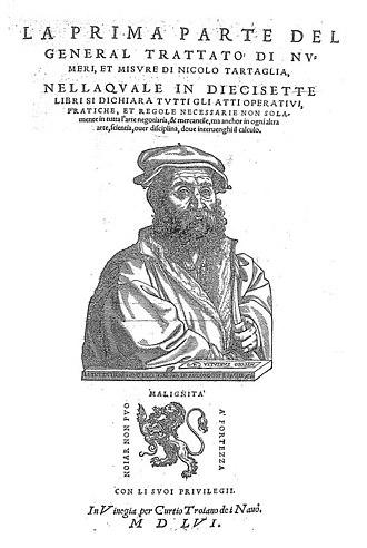 Niccolò Fontana Tartaglia - General trattato de' numeri et misure, 1556