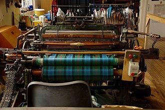 Lochcarron - Image: Tartan Weaving in Lochcarron