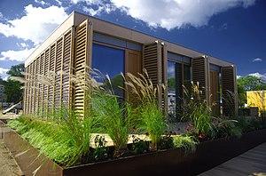 Passive solar building design - Image: Technische Universität Darmstadt Solar Decathlon 2007