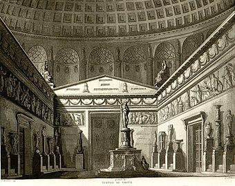 File:Tempio di Vesta, bozzetto di Antonio Basoli per La Vestale (s.d.) - Archivio Storico Ricordi ICON011807.jpg (Quelle: Wikimedia)
