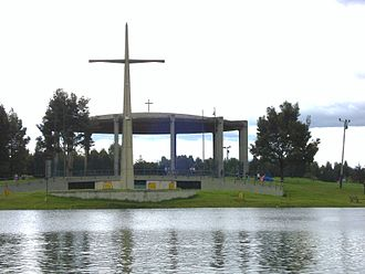 Simón Bolívar Park - Temple created for the Eucharistic Congress that took place at the Simón Bolívar Park