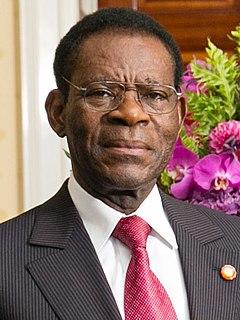 Teodoro Obiang Nguema Mbasogo Equatoguinean president