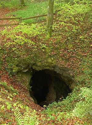 Dinkelberg - The Teufelsloch, a funnel Doline near Nordschwaben