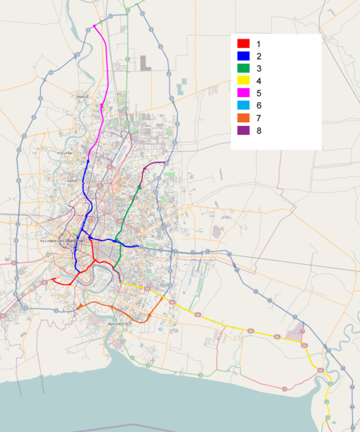 Thai expressway system overview map