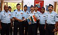 The Air Officer-in-Charge Administration (AOA), Air Marshal J.N. Burma flags off a six member IAF Mountaineering Expedition team to Mt Elbrus (Europe) & Mt Kilimanjaro (Africa), in New Delhi on August 06, 2010.jpg