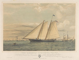 America (yacht) - Image: The America Schooner Yacht New York Yacht Club