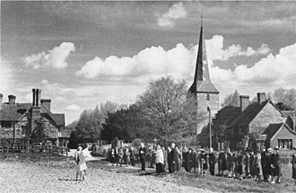 Rogation days - Blessing the Fields on Rogation Sunday at Hever, Kent in 1967