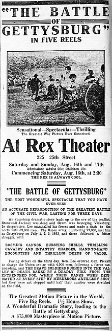 The Battle of Gettysburg 1913 newpaperad.jpg
