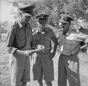 Miles Dempsey - Lieutenant General Dempsey with two of his staff (Major Priestly and Captain Hay) in Sicily, July 1943.